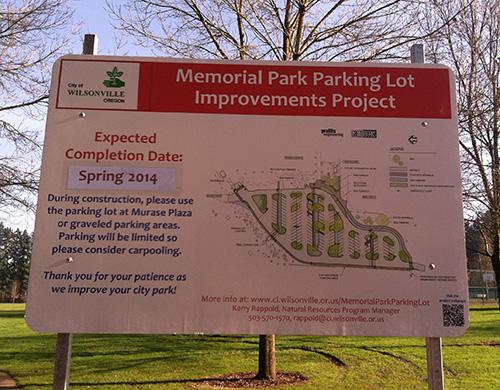 Memorial Park Parking Lot Improvements
