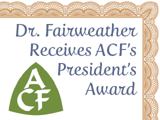 Fairweather honored at ACF convention