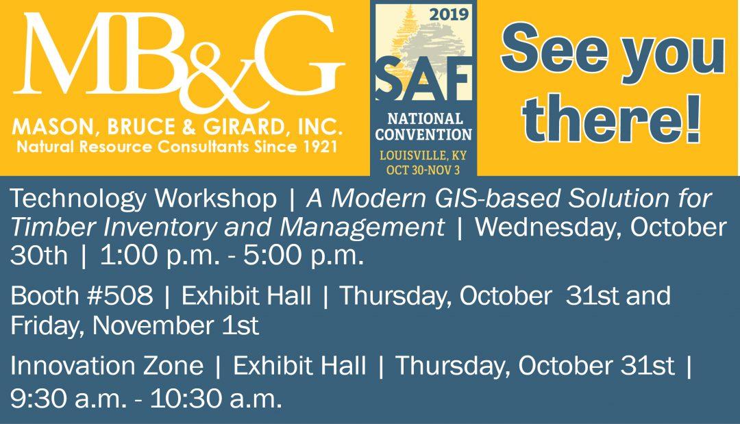 MB&G hosted Workshop at SAF 2019 – October 31 – November 3