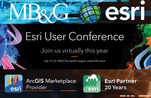 MB&G to virtually attend and sponsor the 2020 Esri User Conference: July 13-16